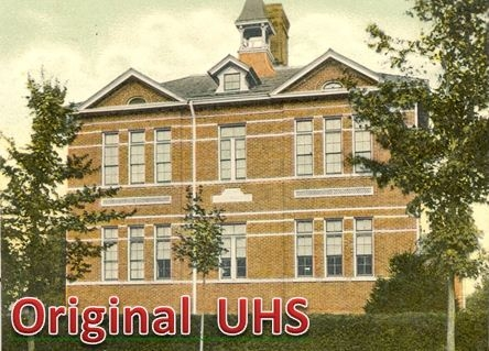 The old Uxbridge High School - across from Trinity United Church (obviously it's not there anymore)